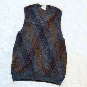 VTG St. Raphael Sweater Vest/Tunic Wool Argyle 2XL